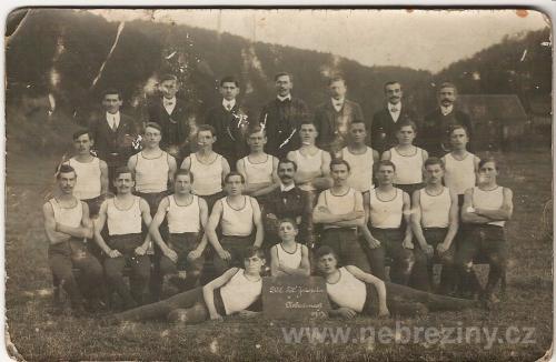 Dělnická tělovýchovná jednota v Nebřežinech 1913